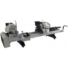 Автоматическая двухголовочная пила для нарезания ПВХ профиля KABAN MAKINA HB 2010